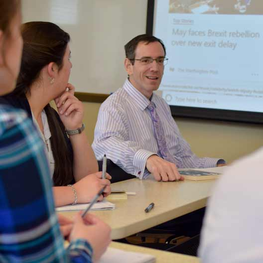 Dr. Steve Mirarchi in a discussion class
