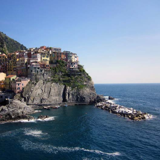 A view of a city in the Cinque Terre group