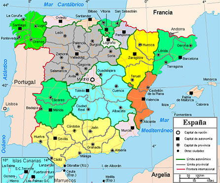 Language Map Of Spain.Summer Study In Spain Benedictine College
