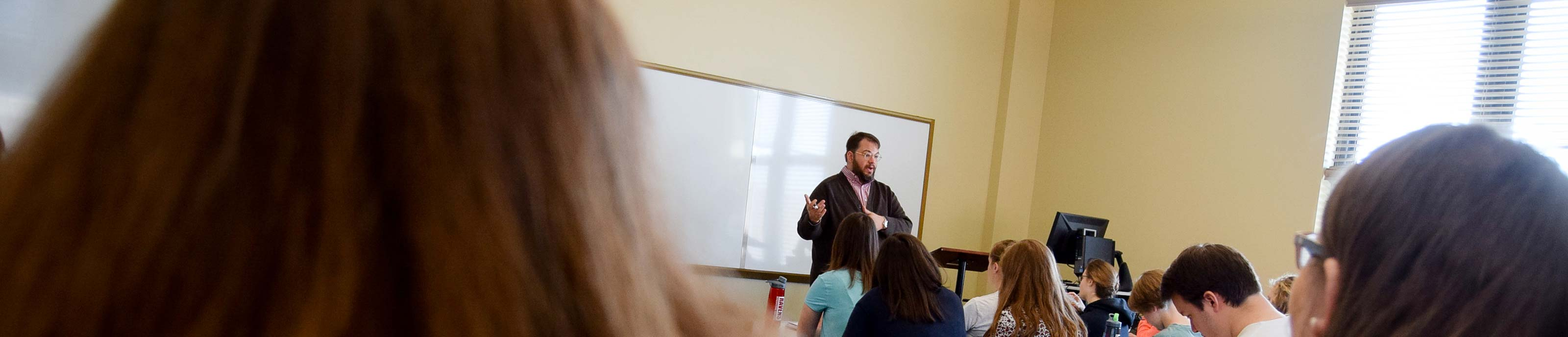 Students in Education class with Dr. Matthew Ramsey