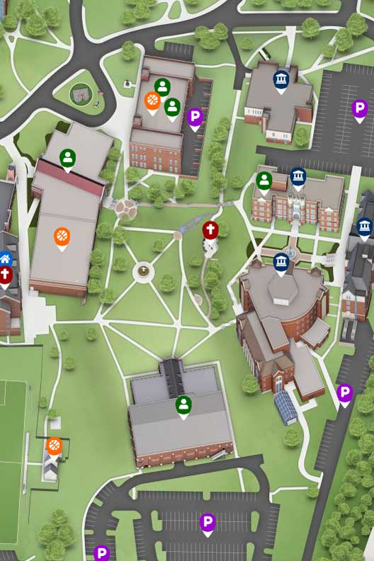 The interactive campus map
