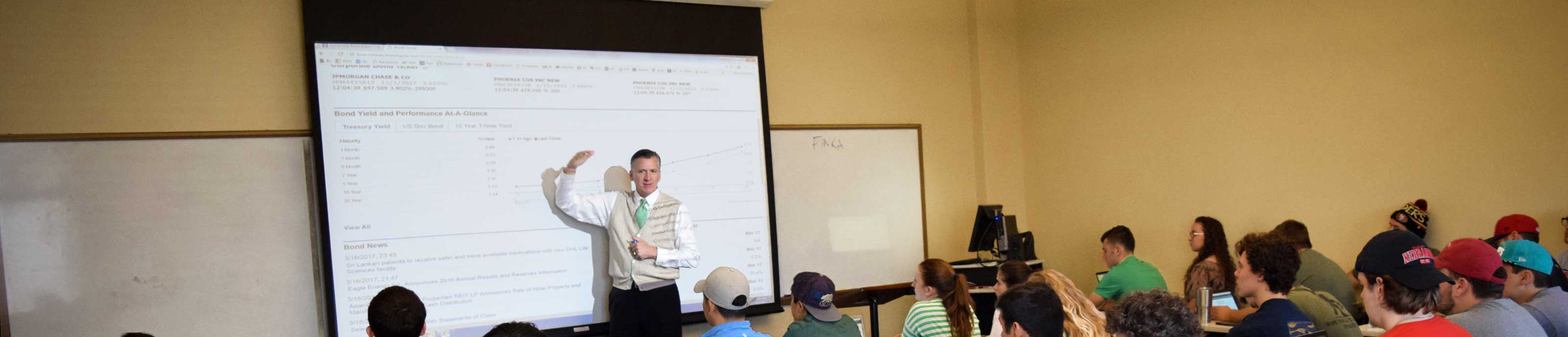 Dr. Michael King teaches class