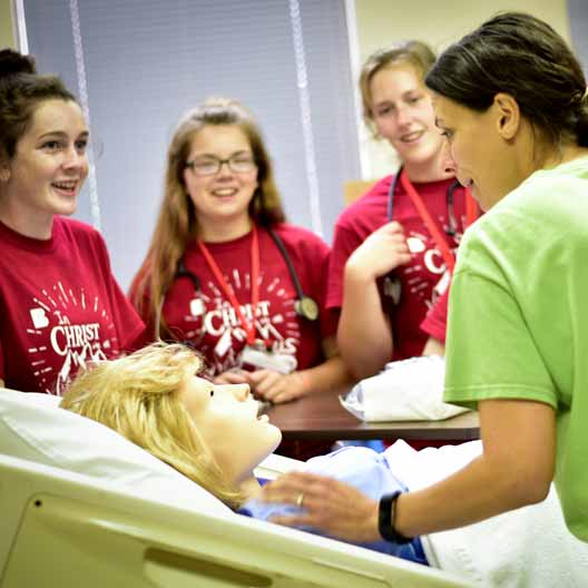Student in BCYC Immersion Nursing class