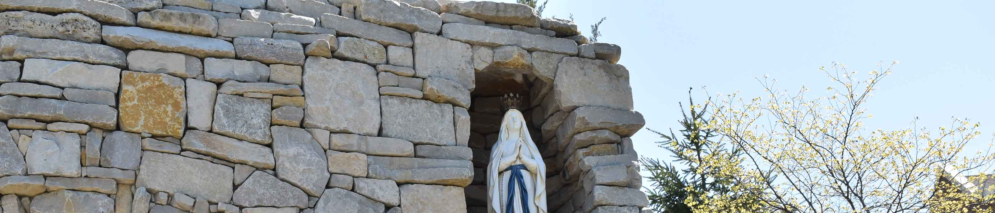 The statue of the Blessed Mother in Mary's Grotto