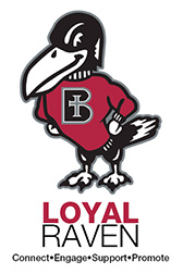 Loyal Raven Logo: Connect, Engage, Support, Promote