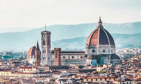 The skyline of Florence, Italy