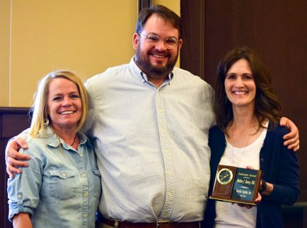 Dr. Matt Ramsey, center, honored with 2017 Inclusion Award. Also pictured are Darla Nelson-Metzger, left, and Lesli Girard of Families Together, Inc.