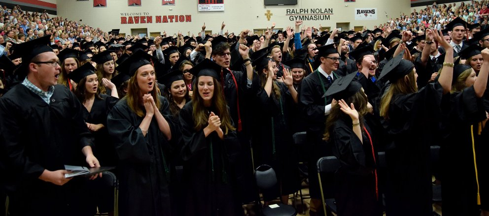 Students Celebrate at the Conclusion of 2018 Commencement Ceremonies