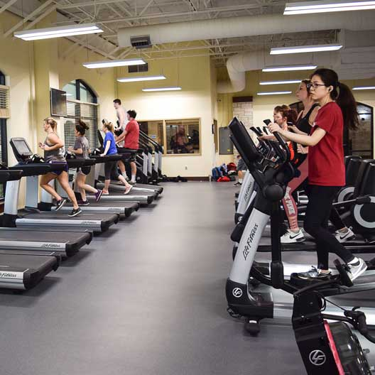 Students exercising in the Murphy Recreation Center